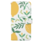 SANKAKU DESIGN STOREの北欧風レモン詰め合わせ。 Book-style smartphone case