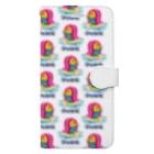 SUNDAYS GRAPHICSのアマビエちゃん総柄 Book-style smartphone case
