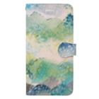 peonicの山に雨 Book-style smartphone case