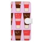 手描きのエトセトラのチューブ(練乳、チョコ) Book-style smartphone case