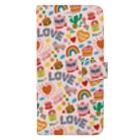 AYAKASAKURANBOのHappy Cat(Pink) Book-style smartphone case