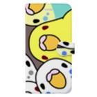 まめるりはことりのみっちりむっちり過密セキセイインコさん【まめるりはことり】 Book-style smartphone case