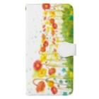 いけはら咲のpoppy 手帳型スマホケース Book-Style Smartphone Case
