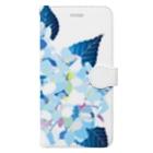 無孔笛の紫陽花 Book-Style Smartphone Case