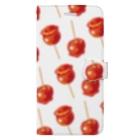 リズの林檎飴[白] Book-style smartphone case