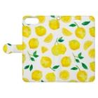 さとろくのレモン手帳型iPhoneケース Book-style smartphone caseを開いた場合(外側)