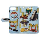 笠岡コンテンツカンパニーの葛飾北斎 大人のおもちゃ Book-style smartphone caseを開いた場合(外側)
