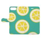 Favoriのレモン Book style smartphone caseを開いた場合(外側)