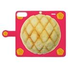 Pop-Hanaのメロンパンと花ボタン Plusサイズ用 Book-Style Smartphone Caseを開いた場合(外側)