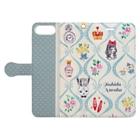 トシダナルホのアリスのお茶会 Book-style smartphone caseを開いた場合(外側)