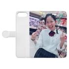 いときちの変顔のるんちゃん Book-style smartphone caseを開いた場合(外側)