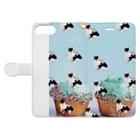 保護猫活動家すみパンさん家への支援グッズ!のNo.15 バットにゃんパターン♪ Book-style smartphone caseを開いた場合(外側)