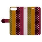 orange_honeyのストライプと水玉 Book-style smartphone caseを開いた場合(外側)
