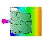 水草のMAPたん4 Book-style smartphone caseを開いた場合(外側)