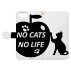 乃舞のNO CATS NO LIFE Book-style smartphone caseを開いた場合(外側)