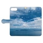 Nienaの琵琶湖の空 Book-style smartphone caseを開いた場合(外側)