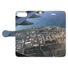 NATSUKO-SHOPの飛行機の窓から Book-style smartphone caseを開いた場合(外側)