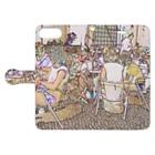 FUCHSGOLDのCG絵画:カフェテラス CG art: Sidewalk café Book-style smartphone caseを開いた場合(外側)