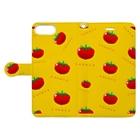 似顔絵 KURI屋のトマト Book-style smartphone caseを開いた場合(外側)