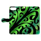 天獄堂のTile02 Book-style smartphone caseを開いた場合(外側)