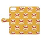リズのベーコンエッグパンケーキ[黄]  Book-style smartphone caseを開いた場合(外側)
