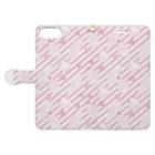 トシダナルホのピンクのお菓子 Book-style smartphone caseを開いた場合(外側)