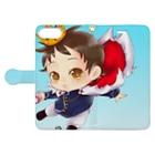 JOSTAR星の王子さま☆僕ちゃんのお店☆のスマホケースかくしゅ★☆ Book-style smartphone caseを開いた場合(外側)