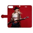 FUCHSGOLDのドール写真:ライフル銃を持つブロンドの狩人 Doll picture: Blonde hunter with type38 rifle gun Book-style smartphone caseを開いた場合(外側)