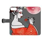 SWEET&SPICY 【すいすぱ】の花魁ダーツガール🎯紅月 Book-style smartphone caseを開いた場合(外側)