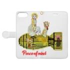 Rock catのCAT GIRL PEACE Book-style smartphone caseを開いた場合(外側)