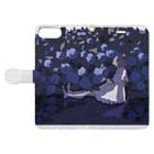 もえこの紫陽花 Book-style smartphone caseを開いた場合(外側)