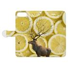 okusennの鹿と レモン Book-style smartphone caseを開いた場合(外側)