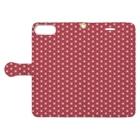 模様屋の麻の葉 弐 Book-Style Smartphone Caseを開いた場合(外側)