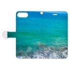 TwilighTの波打つ Book-Style Smartphone Caseを開いた場合(外側)
