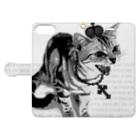 Lunatic Cat-ismのシャーという猫 Book-style smartphone caseを開いた場合(外側)