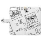BabyShu shopのノスタルジー鷺ハムシリーズwhiteスマホケース Book style smartphone caseを開いた場合(外側)