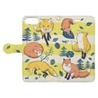 マキバドリのキツネの森 Book-style smartphone caseを開いた場合(外側)