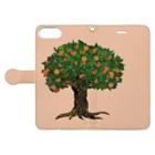 TinyMiry(タイニーミリー)のメルヘンなオレンジの木 Book-style smartphone caseを開いた場合(外側)