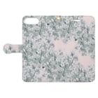 こうのかなえのpink flower  Book-style smartphone caseを開いた場合(外側)