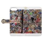 お店屋さんの圧縮 Book-style smartphone caseを開いた場合(外側)
