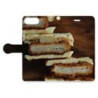 AoiSoratoGohanの毎日お肉が食べたい~カツサンド~ Book-style smartphone caseを開いた場合(外側)
