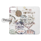 Fuu and Mar 🐾のtravel stamps.2 Book-style smartphone caseを開いた場合(外側)