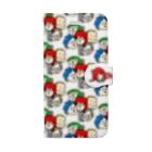 駄菓子菓子の駄ポン【みっちり数珠繋ぎ】手帳型 Book-style smartphone case
