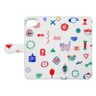 桜のかたちたち Book-style smartphone caseを開いた場合(外側)