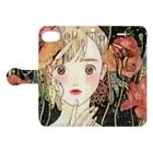 やまがみ彩のpoppy make Book-style smartphone caseを開いた場合(外側)