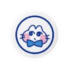 はしもとゆずのおすましねこブルー Badges