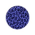 みや猫のヒョウ柄(ブルー) Badges
