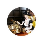 FUCHSGOLDのドール写真:時間を操るブロンドの魔女 Doll picture: Blonde witch with sundial Badges