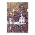 Akiyoのフィレンツェ画房 の花火の夜の大聖堂 Clear File Folder