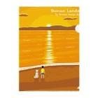 湘南デザイン室:Negishi Shigenoriの湘南ランドスケープ07:夕焼け、光の道 Clear File Folder